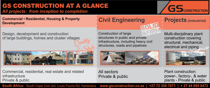 GS Construction Company - infogram on building and civil construction