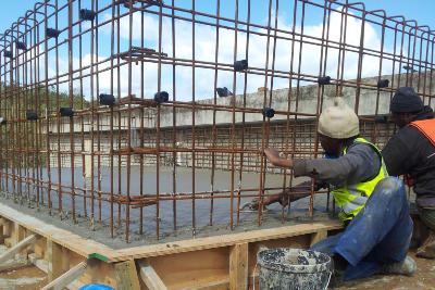 Industrial Construction site of GS Construction Mossel Bay Western Cape